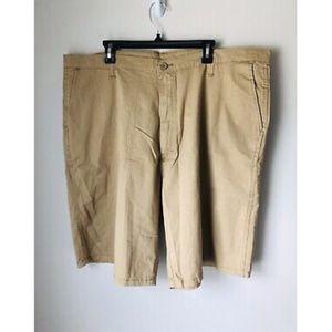 NWOT Wrangler Mens Beige Khaki Chino Shorts